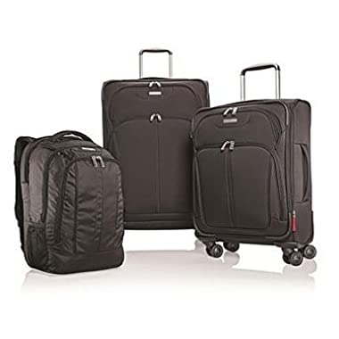 Samsonite 3 Piece Nested Set (Backpack/21  Spinner/27  Spinner), Black, One Size