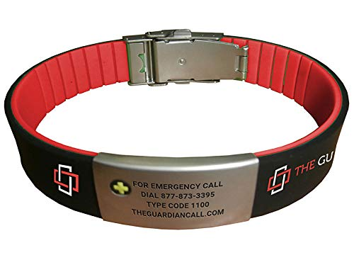 Medical Alert Bracelet with Personalized Emergency Code and Warning Calling System  1 Year Included