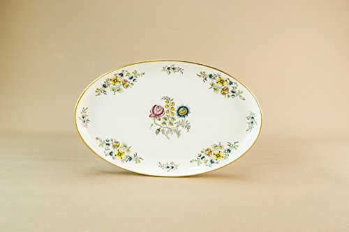Retro Vintage Floral Serving DISH Gift Cheese Dining Bone China Elegant Minton Medium English Late 20th Century LS
