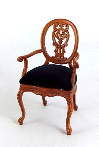 Melody Jane Dolls Houses House Miniature Bespaq Furniture Walnut Le Petite Paulinese Carver Chair