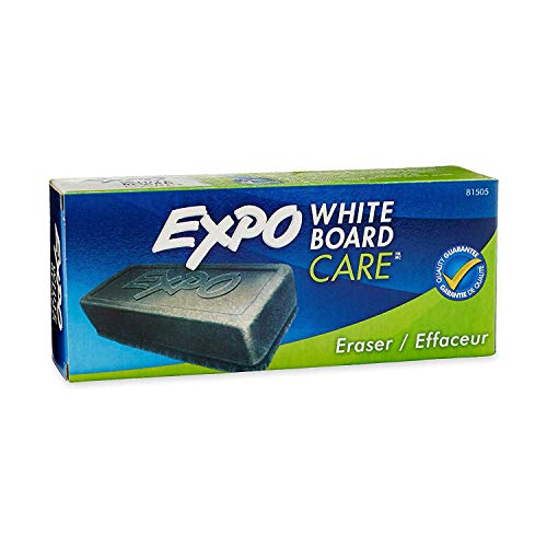 Expo 81505 Block Eraser Dry Erase Whiteboard Board Eraser, Soft Pile, 5 1/8 W x 1 1/4 H - Pack of 1 (3-Pack) ()