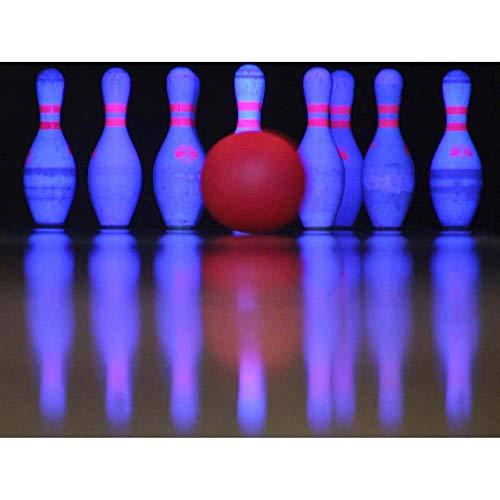 Bowling Photo Pin (Wee Blue Coo Sport Ten Pin Bowling Neon Skittles Ball Unframed Wall Art Print Poster Home Decor Premium)