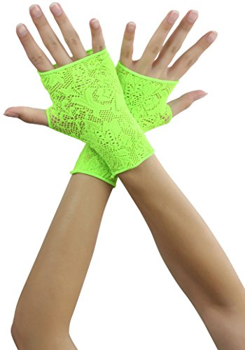 Green Lace Gloves (ToBeInStyle Women's Lace Gloves - Ngreen)