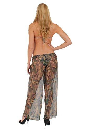 Gorgeous Mesh Camo Beach Pants Swimwear Cover up