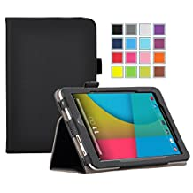 LG G Pad II 8.0 LTE case, KuGi Multi-Angle Stand Slim-Book PU Leather Cover Case for LG G Pad II 8.0 LTE tablet (Black)