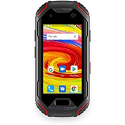 Unihertz Atom, The Smallest 4G Rugged Smartphone in The World, Android 8.1 Oreo Unlocked Smart Phone with 4GB RAM and 64GB ROM