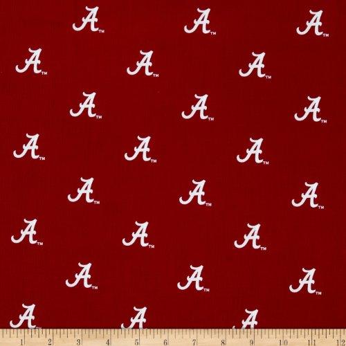 Sykel Enterprises Collegiate Cotton Broadcloth University of Alabama Crimson/White Fabric By The -