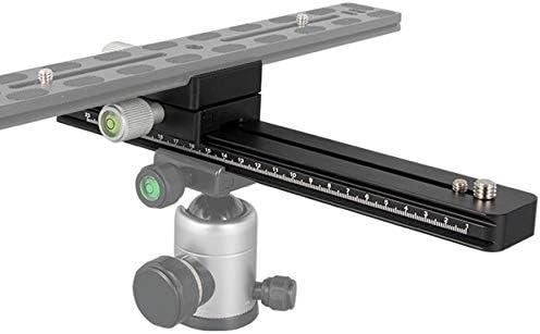 Moligh doll Track Slider Focusing Focus Rail Slider /& Clamp nd QR Plate Meet for DSLR Camera