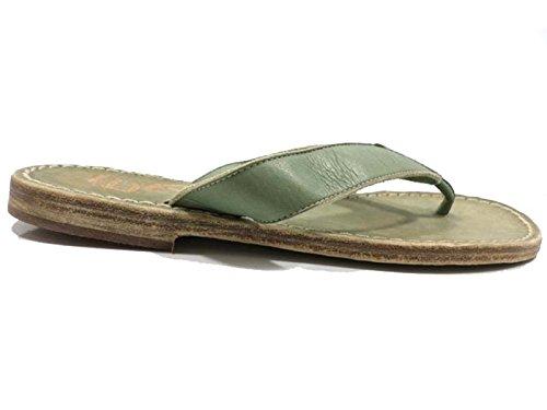 Zapatos Mujer EDDY DANIELE 37 EU Sandalias Verde Cuero AW415 / AW416