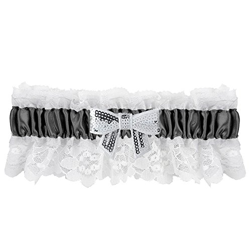 Ivy Lane Design Marilyn Sequin Bow Garter, Black
