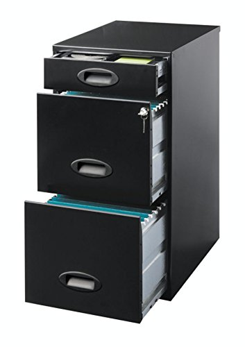 Realspace SOHO 3 Drawer Organizer Vertical File Cabinet, 27