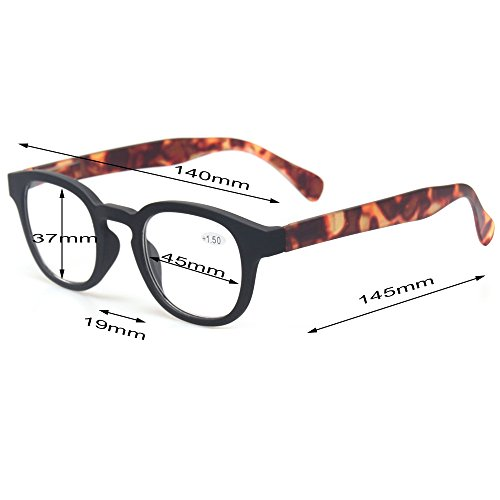 Reading Glasses Fashion Men and Women Readers Spring Hinge with Pattern Design Eyeglasses for Reading (5 Pack Mix Color, 2.0) by Kerecsen (Image #2)