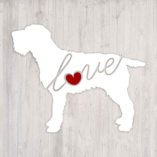 Wirehaired Pointing Griffon Love - Car Window Vinyl Decal Sticker (Script Font)