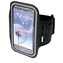 Sports Workout Arm-Band for Samsung Galaxy S4 S3 S2 Phones - Black