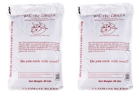RecTec Grills Ultimate Blend Pellets, 40 lb (2-Pack) by RecTec
