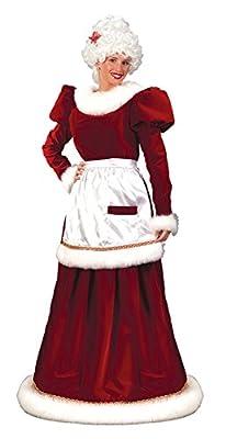 GTH Women's Mrs Santa Claus Lady Velvet Christmas Holiday Fancy Costume