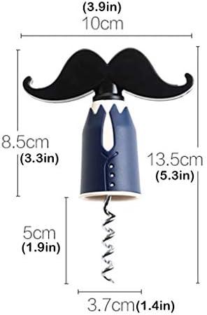 Sacacorchos para Botellas Creativa bigote azul claro viajes Sacacorchos portátil del corcho del sacacorchos del vino, perfecto for los camareros (azul oscuro) Abridor Botellas ( Color : B )