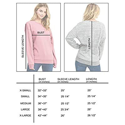 esstive Women's Ultra Soft Fleece Basic Lightweight Casual Crew Neck Sweatshirt: Clothing