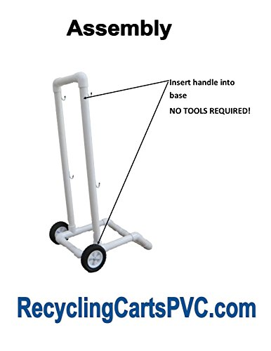 Recycling Cart | 2 Wheels | Lifetime Warranty | 1-1/2'' PVC | No Rust | Heavy Duty by RecyclingCartsPVC.com (Image #2)