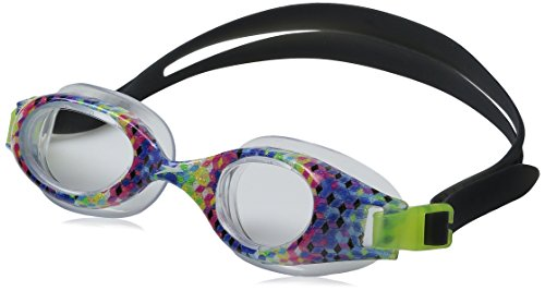 Speedo Junior Hydrospex Print Swim Goggle, Rainbow Brights,
