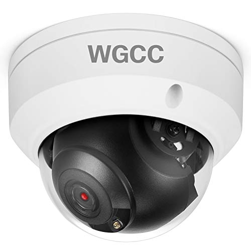 WGCC Dome POE IP Camera Onvif 4MP 2.8mm Wide Angle IP Exterior Camera Indoor Outdoor Wired PoE Network Camera with 98ft Security IR Night Vision