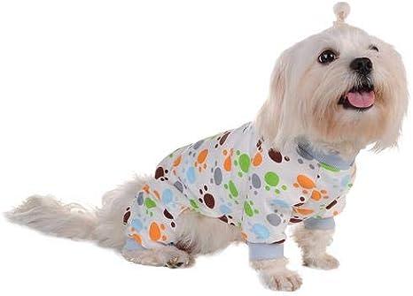 Poetryer Ropa Perro pequeño Pijama Perro pequeño Perro Ropa Pijamas de algodón, Suave Algodón Puppy Rompers Mono de Mascota Acogedor Body para Perros ...