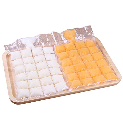 (UMFunPlastic Ice Bag One-time Clear Popsicle Bags Ice Cream Storage Bags)