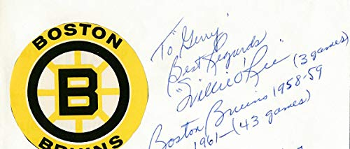 - Willie O'Ree Bruins Signed First Day Cover Envelope 121240