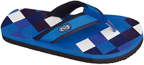 Schreuders Sport Print Flip Flop Aqua/Navy Blue/Blue/Denim Blue 9sxJhjxCzj