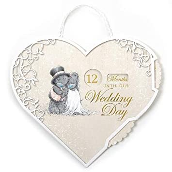 Me To You G01q6456 Wedding Day Countdown Plaque
