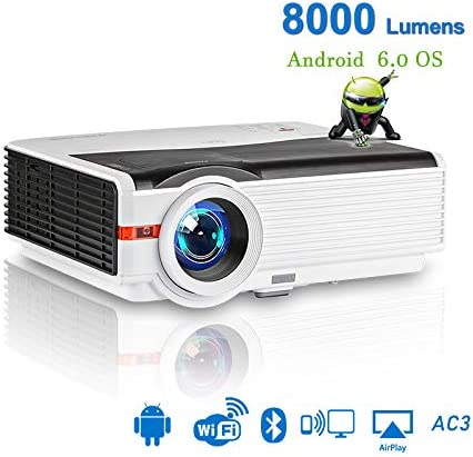 ZUEN Proyector HD Inteligente Android WiFi 1080P LCD LED Proyector ...