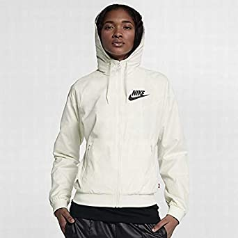 Image Unavailable. Image not available for. Color  Nike Sportswear  Windrunner Women s Jacket (Off White Black ... 39927b091