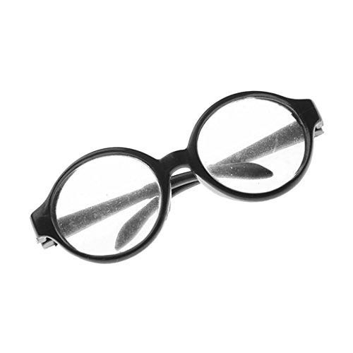 Jili Online Pair of Round Frame Eye Glasses for 18'' American Girl My Life Dolls Black