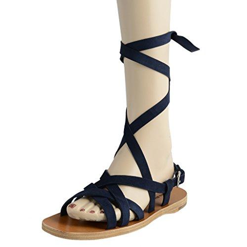Miu Miu Women's Suede Strappy Open Toe Sandals Shoes US 8 IT - Suede Miu Miu