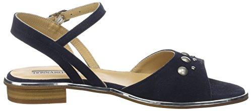 001 Correa Tamy Bleu De Con Piu Notte Sandalias Tobillo Mujer blu Para Donna D53111 XBwnOx5U
