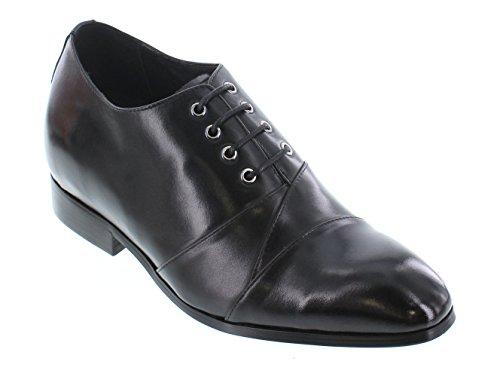 """K-CALDEN 323041-6,60 (2,6"""")-Tappetto cm, altezza aumentare ascensore scarpe di pelle, stringate, colore: nero)"""