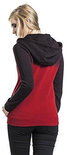 Full Volume by EMP Crossbones Skully Chaqueta con capucha Chaqueta con capucha Mujer negro/rojo negro/rojo