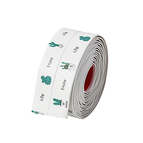 SUHAPPY Decorative Caulk Strip Self-Adhesive Mildewproof Waterproof for Bathtub Toilet Floor Kitchen Stove Sink Sealing
