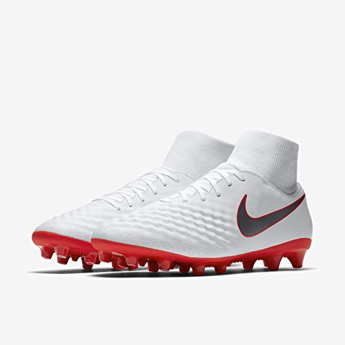 Nike Magista Obra II Dynamic Fit AG Pro Cam AQ4810 Mens Football Boots Size: 44 UK, Color White/Red