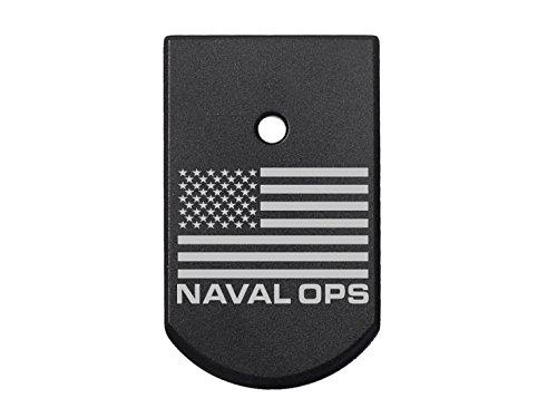- NDZ Performance for Sig Sauer P226 Floor Plate 9MM .40 .357 Black Us Flag Naval Ops