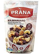 Prana Kilimanjaro Deluxe Chocolate Mix | Organic Trail Mix | Non-GMO, Gluten Free, Vegan Snack | 70% Cocoa Dark Chocolate with Cashews, Raisins, Almonds, Walnuts & Cranberries (150g)