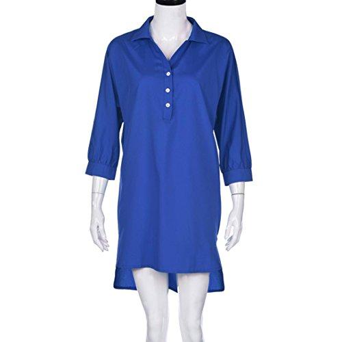 vestidos de mujer,Switchali Mujer Verano casual moda Vestido de playa atractivo ropa mujer talla grande ( L~6XL ) nuevo 2017 barato Azul
