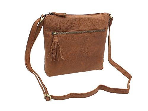 Bolla bolsas de recogida de Cambridge hombro/Cross Body Bag CLARA Canela Canela