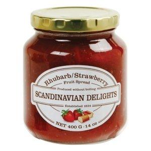 Elki Scandinavian Delights Strawberry/Rhubarb Fruit Spread 14 Oz 30 E