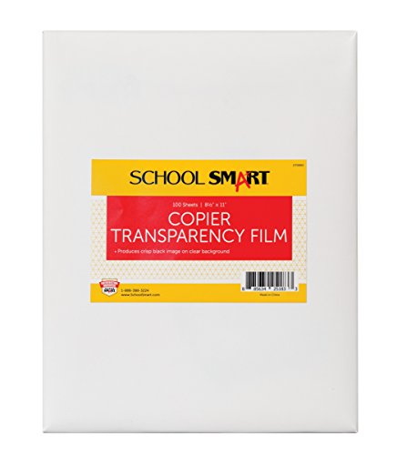 School Smart Copier Transparency Film without Sensing Strip - 8 1/2 x 11 inches - Pack of 100