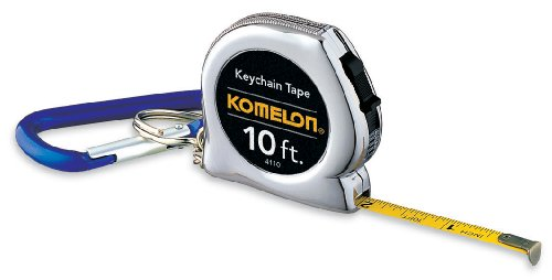 Komelon 4110CS Keychain Tape Measure Acrylic Coated Steel - Measurement Tape Keychain
