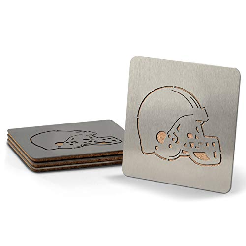 NFL Cleveland Browns Boaster Stainless Steel Coaster Set of 4