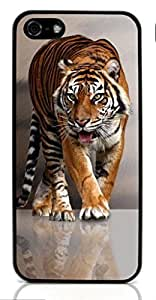 Tiger wild animal Hard Case for Apple iPhone 5/5S ( Sugar Skull )