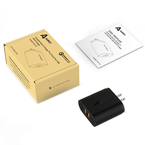 Aukey USB Wall Charger with Dual Quick Charge 3.0 Ports for Smartphones