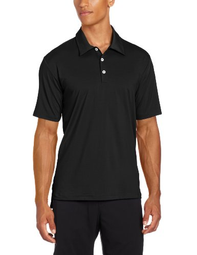 Climalite Jersey Polo Shirts (adidas Golf Men's Climalite Solid Stretch Jersey Polo, Black, Small)